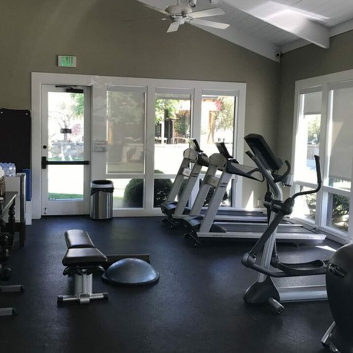 fitness center at the spa