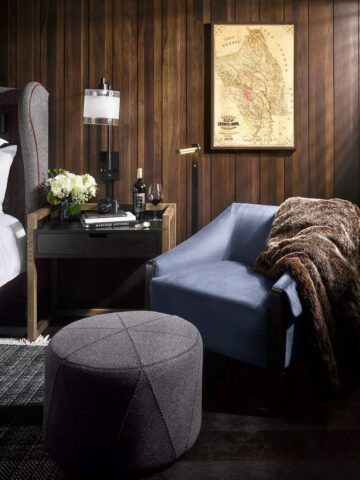 chair and ottoman in the junior suite
