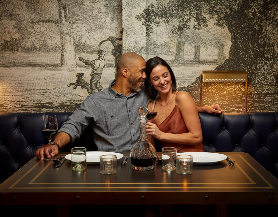 couple dining in perry langs