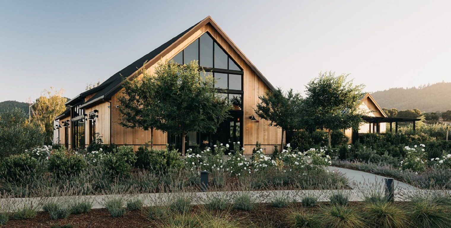 exterior of the yountville estate