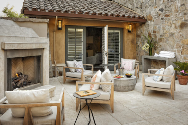 outdoor space at the spa