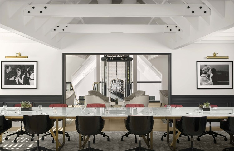 interior of a meeting room at the estate