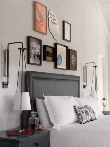 bedroom in the vintage house