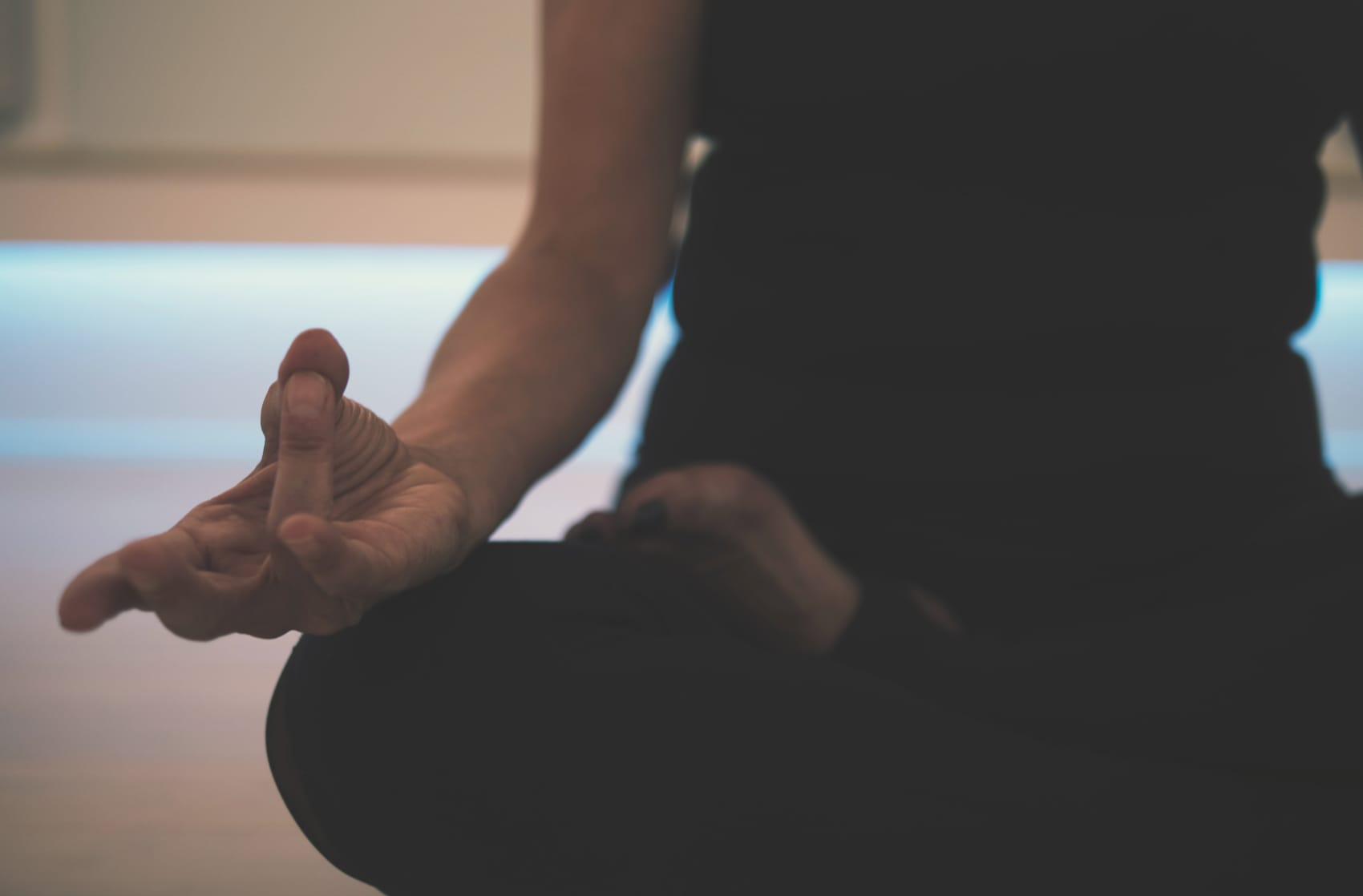 woman in a meditation pose